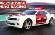 سباق دراج مع سيارة تابعة لشرطة أبوظبي